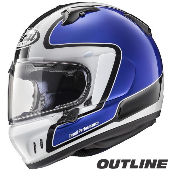 アライ XD OUTLINE フルフェイスヘルメット 【アウトライン・青 XS(54cm)サイズ】