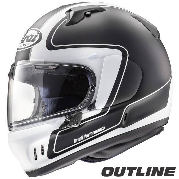 アライ XD OUTLINE フルフェイスヘルメット 【アウトライン・黒 M(57-58cm)サイズ】