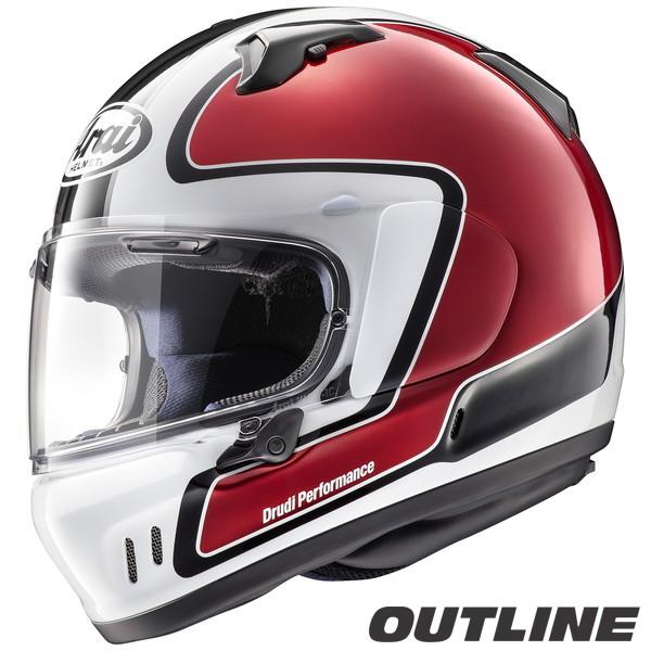 アライ XD OUTLINE フルフェイスヘルメット 【アウトライン・赤 M(57-58cm)サイズ】