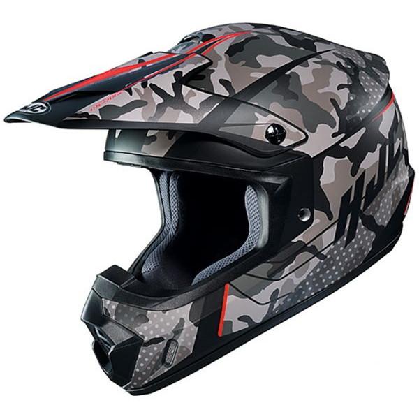 【Mサイズ】  HJH201 CS-MX サピア 【ブラック/レッド M(57-58cm)サイズ】 SAPIR オフロードヘルメット MC1SF