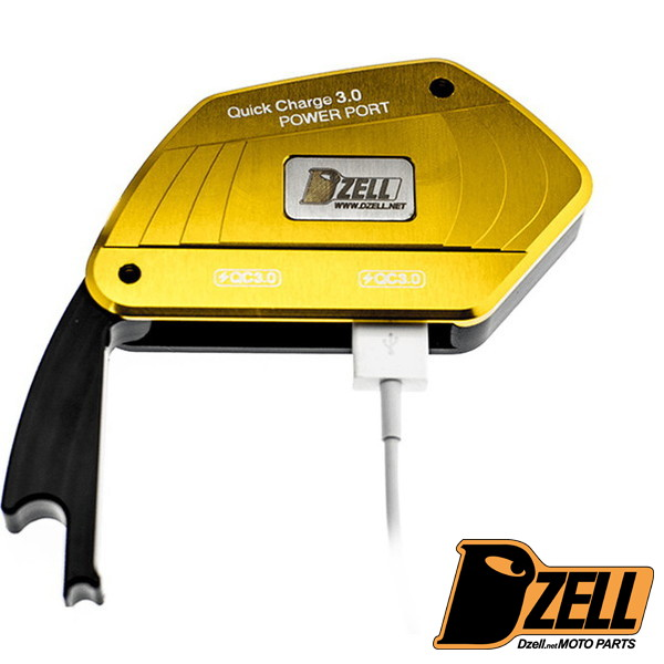 Dzell USBポート リザーブタンク ボルトオンタイプ 2ポート BMW(ゴールド)