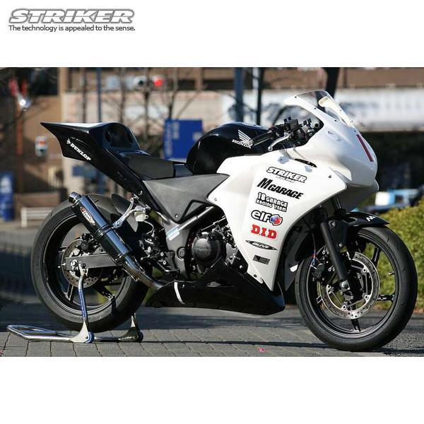 ストライカー レーシングコンセプト スリップオン マフラー CBR250R 1-1 ステン/ステン(ステンレスサイレンサー) レース専用 61130QS54