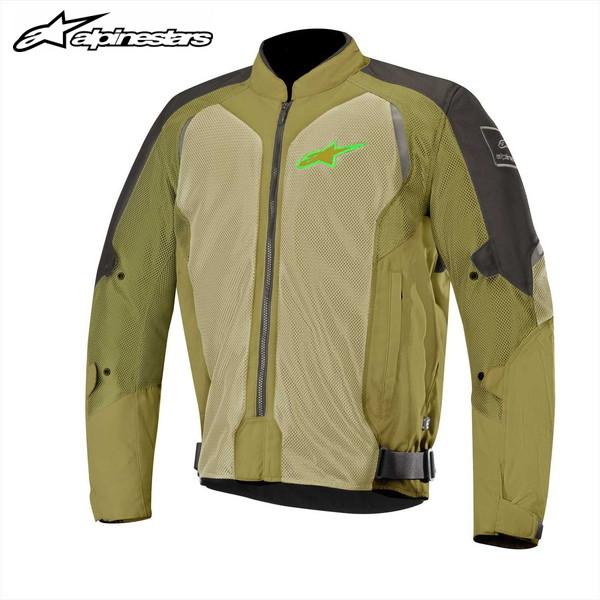 アルパインスターズ WAKE AIR メッシュジャケット 3305918(BLACK OLIVE GREEN FLUO)