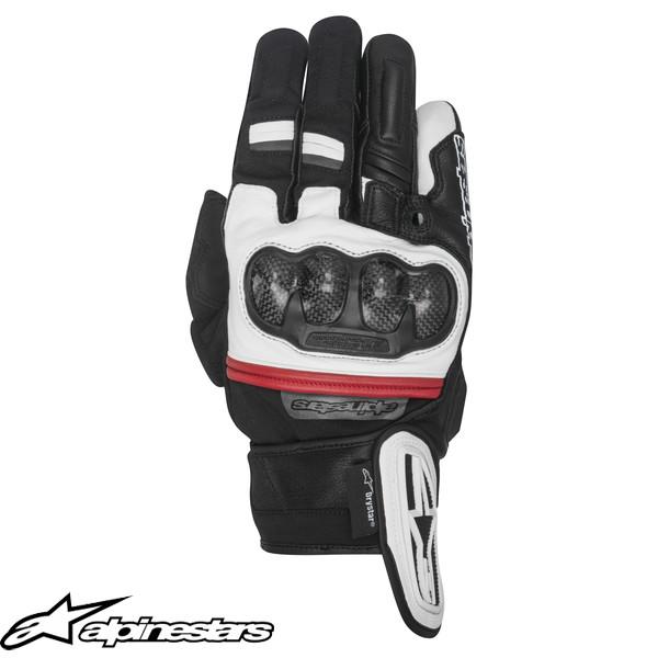 アルパインスターズ RAGE DRYSTAR グローブ ブラック/ホワイト/レッド
