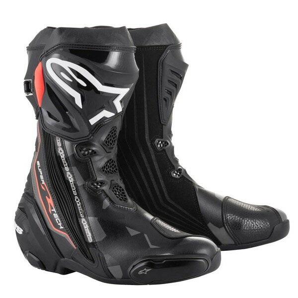 alpinestars SUPERTECH-R BOOT 2220015 レーシングブーツ (BLACK/D.GRAY/RED)