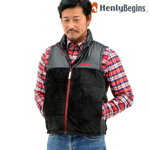 Henly Begins(ヘンリービギンズ) テラヒート 電熱ベスト(ブラック/レッド) HBH-004