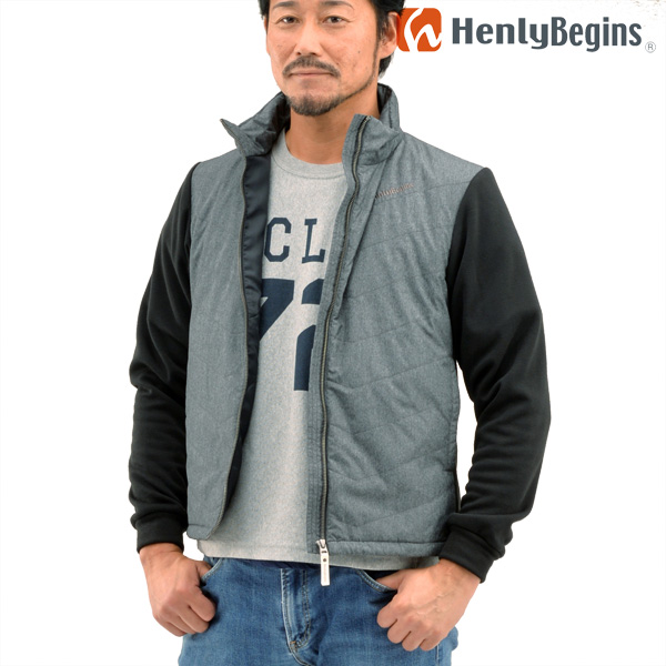 Henly Begins(ヘンリービギンズ) テラヒート 電熱ブルゾン(杢グレー) HBH-005