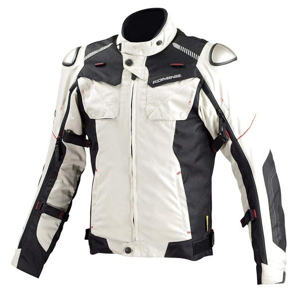 コミネ JK-588 フルイヤーチタニウムジャケット (ライトグレー/ブラック)