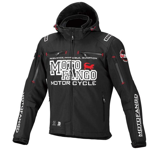 コミネ MJ-005 MOTO FANGO ソフトシェル ウインターパーカ(ブラック)