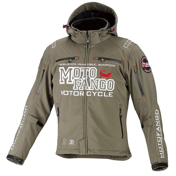 コミネ MJ-005 MOTO FANGO ソフトシェル ウインターパーカ(ディープオリーブ)
