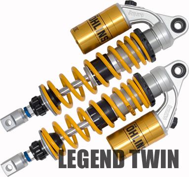 オーリンズ HO 133 CB1100F/900F/750F/CBX1000 リアショックアブソーバー レジェンド・ツイン S36PR1C1L イエロースプリング
