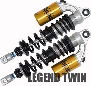 オーリンズ [HO 134] CB1100F/900F/750F/CBX1000 リアショックアブソーバー レジェンド・ツイン S36PR1C1L ブラックスプリング