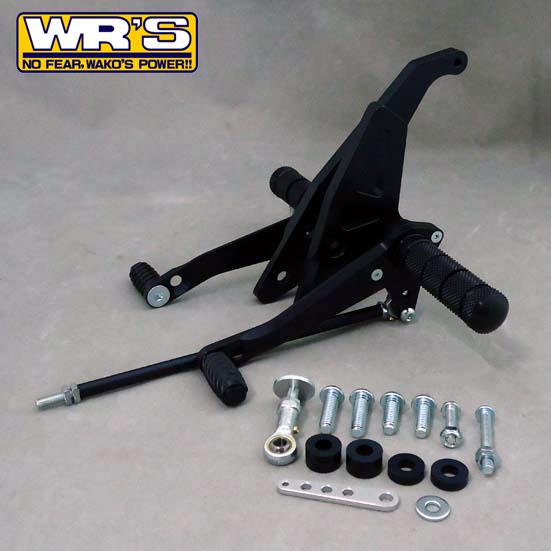 WR'S(ダブルアールズ) バックステップ XJR400R(01-) バトルステップ 1ポジション ブラックバージョン 0-45-WK2403