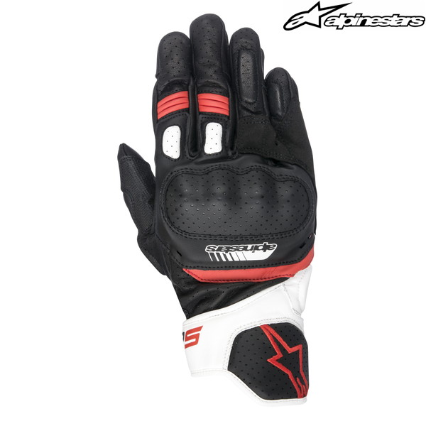 alpinestars SP-5 LEATHER GLOVE 3558517 レザーグローブ (BLACK/WHITE/RED)