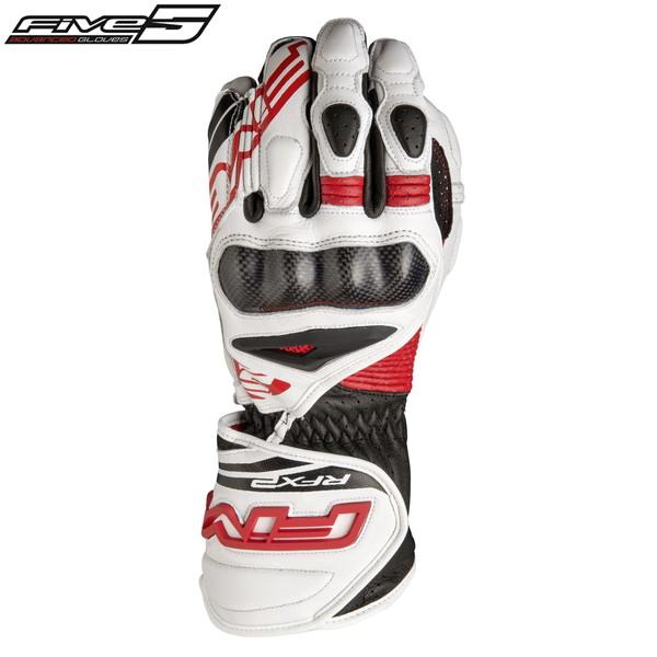 FIVE RFX2 016 レーシンググローブ ホワイト/レッド