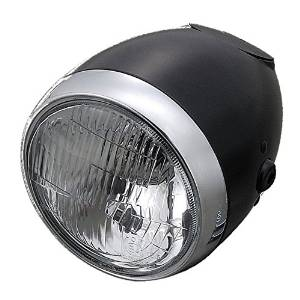 デイトナ 79160 ビンテージSヘッドライト (ブラック)【smtb-s】