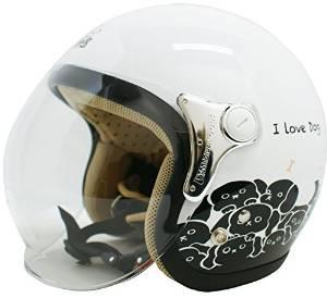 ダムトラックス(DAMMTRAX) ヘルメット CARINA P.WHITE-DOG【smtb-s】