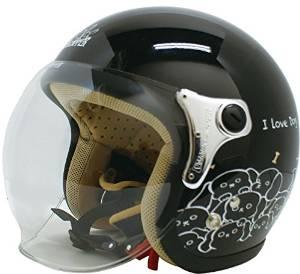 ダムトラックス(DAMMTRAX) ヘルメット CARINA P.BLACK-DOG【smtb-s】