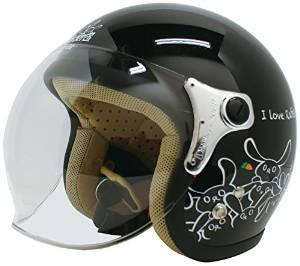 ダムトラックス(DAMMTRAX) ヘルメット CARINA P.BLACK-RABBIT【smtb-s】