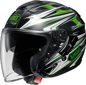 SHOEI ヘルメット J-CRUISE CLEAVE TC-4 GRN/BK S【smtb-s】