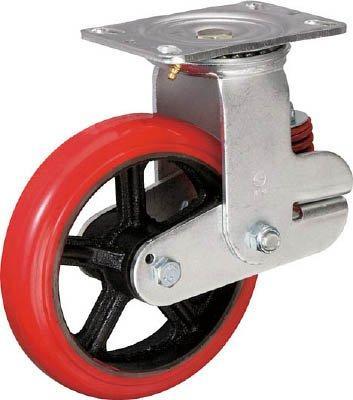 イノアック車輪 イノアック バネ付き牽引車輪(ウレタン車輪タイプ 自在金具付 Φ200) KTU200WJGS【smtb-s】