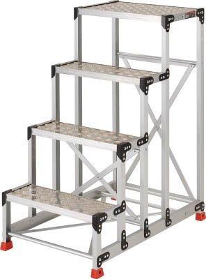 トラスコ中山/TRUSCO TRUSCO 作業用踏台 アルミ製・縞板タイプ 天板寸法600X400X1200 TSFC4612【smtb-s】