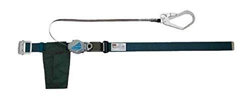 トラスコ中山(TRUSCO) TRUSCO 巻取り式2WAY安全帯 1本つり専用 アルミ製バックル 青緑 TSB59ABG【smtb-s】