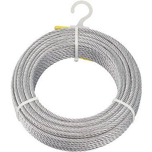 トラスコナカヤマ TRUSCO メッキ付ワイヤロープ Φ6mmX100m CWM6S100【smtb-s】