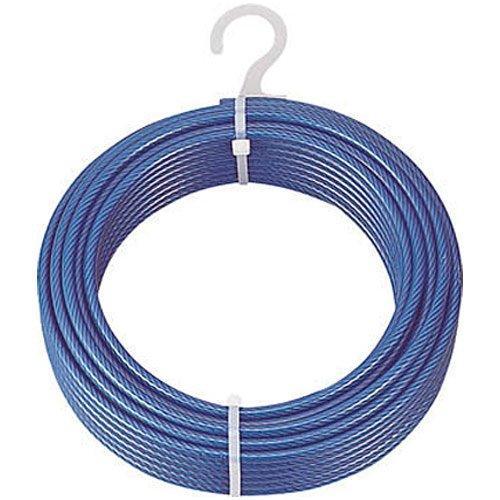 トラスコナカヤマ TRUSCO メッキ付ワイヤロープ PVC被覆タイプ Φ4(6)mmX100m CWP4S100【smtb-s】