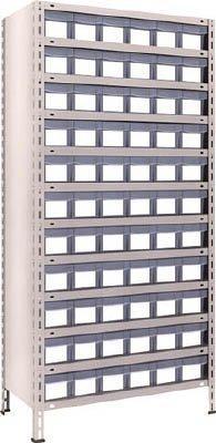 トラスコ中山 63X812C11 NG【smtb-s】 樹脂引出透明 875X450XH1800 小X66 軽量棚 TRUSCO