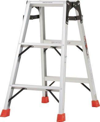 TRUSCO はしご兼用脚立 アルミ合金製・脚カバー付 高さ0.81m THK090【smtb-s】