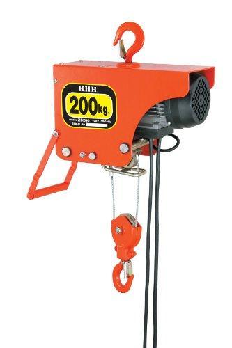 【送料無料】 スリーエッチ HHH 電気ホイスト 200kg 揚程6m ZS200【smtb-s】