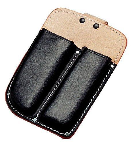 送料無料 コヅチ 通常便なら送料無料 黒床皮 剪定鋏 早割クーポン 2列 型押 折鋸ケース SN-13