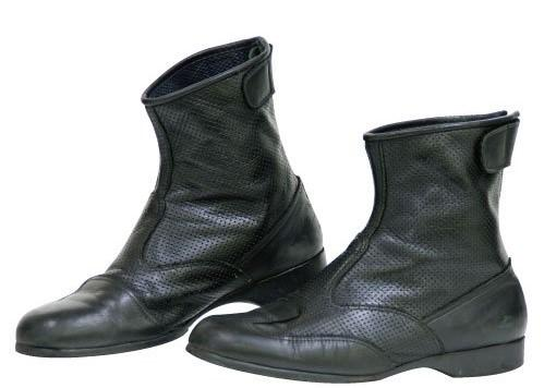 コミネ(Komine) BK-066 AIR THROUGH SHORT BOOTS 24.5(05-066/BK/24.5)【smtb-s】