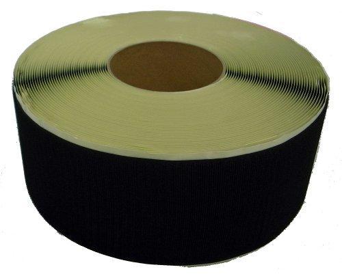 松浦工業 粘着付マジックテープ100ミリ巾X25m A面フック黒(PN)【smtb-s】