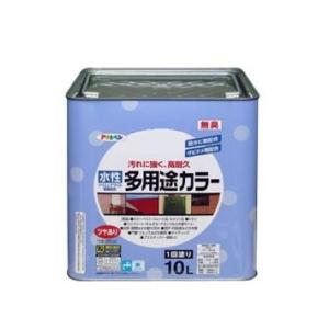 アサヒペン 水性多用途カラー 10L ライトグレー【smtb-s】