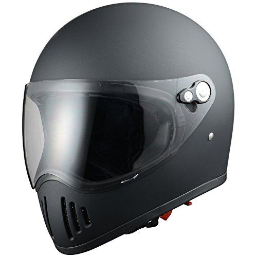 シレックス 【必ず購入前に仕様をご確認下さい】RAIZIN フルフェイスヘルメット M/BK L (ZS728-MBL)【smtb-s】