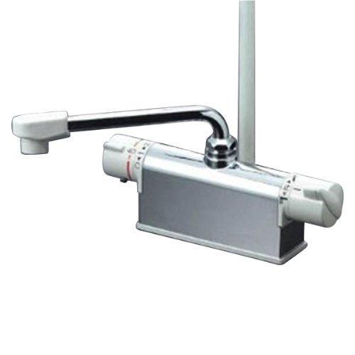 送料無料 KVK デッキ形サーモスタット式シャワー 吐水口L=240mmKF771NR2 正規店 本物 取付ピッチ85mm