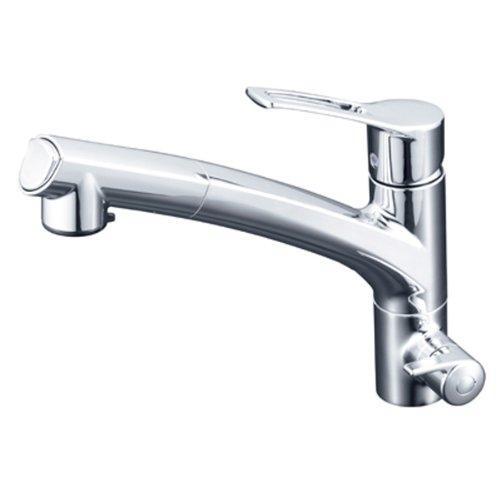 KVK 浄水器付シングルレバー式シャワー付混合栓(シャワー引出式)長住協仕様KM5061NSCCK【smtb-s】