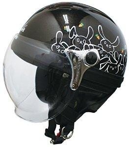 ダムトラックス(DAMMTRAX) ヘルメット カリーナハーフ BLACK/RABBIT【smtb-s】