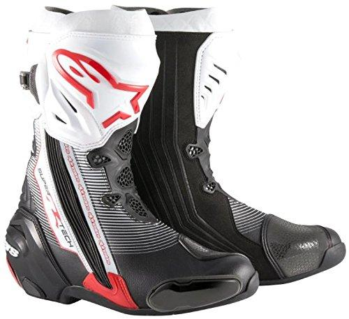 alpinestars(アルパインスターズ) 【必ず購入前に仕様をご確認下さい】SUPERTECH-R ブーツ BK RD WHT 43【smtb-s】
