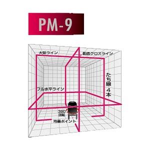 山真製鋸 レーザーマスタープレミアム 本体+三脚 PM-9-T【smtb-s】