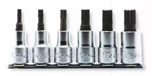 山下工業研究所 コーケン 1/2(12.7mm)3重4角ビットソケット レールセット 6ヶ組 RS4020/6-L60【smtb-s】