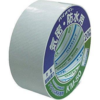 ダイヤテックス * パイオラン 気密テープ片面 白 KM-50-WH 50ミリ 超強力【入数:24】【smtb-s】