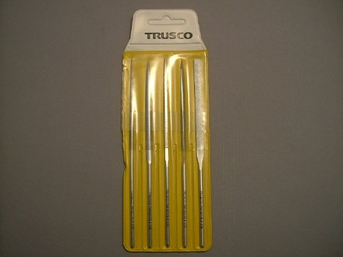 TRUSCO TRUSCO ダイヤモンドニードルヤスリS半丸・三角・平・角・丸5本組#170 TNFS2 3289249【smtb-s】