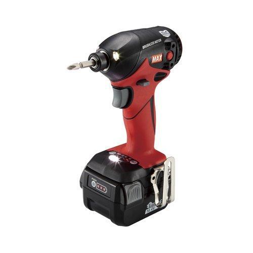 マックス MAX 14.4V充電式インパクトドライバ レッド code:4971353【smtb-s】