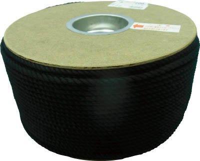ユタカメイク ユタカ ポリエステルロープ ドラム巻 5φ×200m 黒 code:7541406【smtb-s】