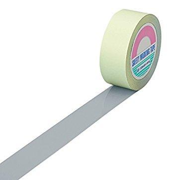 日本緑十字社 緑十字 ガードテープ(ラインテープ) グレー 25mm幅×100m 屋内用 code:7917678【smtb-s】