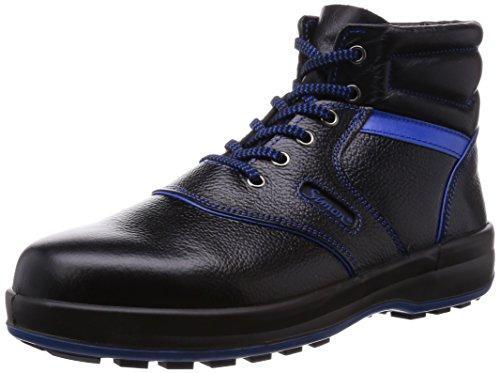 シモン 安全靴 編上靴 SL22-BL黒/ブルー 25.5cm code:4351401【smtb-s】