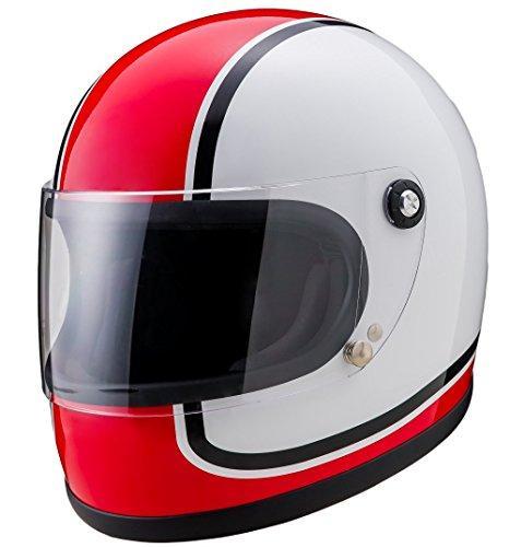 山城謹製 ニューレトロフルフェイスヘルメット 750  カラー:赤 サイズ:XL【smtb-s】